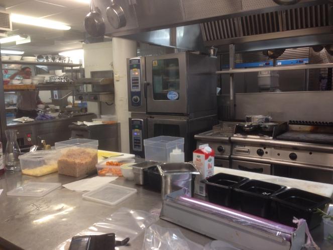 Uma vista da cozinha