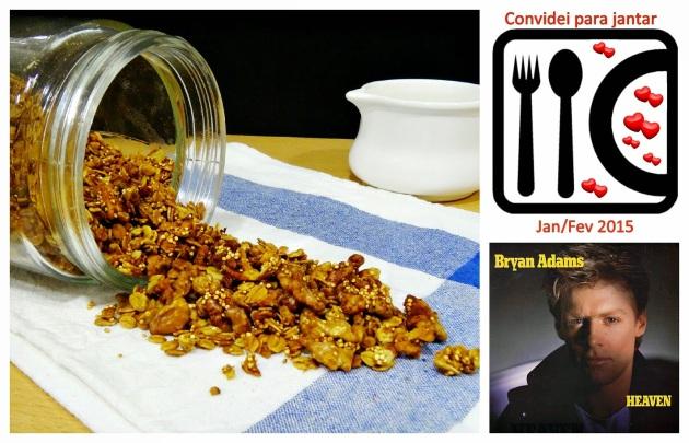 Granola de quinoa e nozes