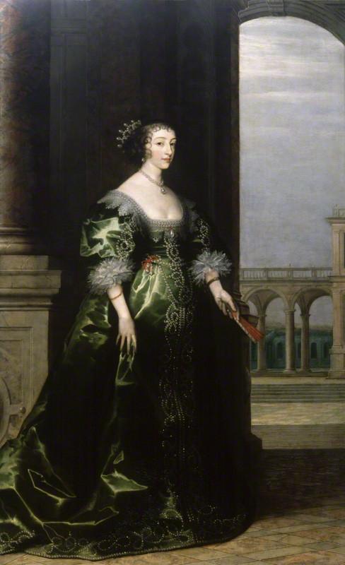 NPG 1247; Henrietta Maria by Unknown artist, background by  Hendrik van Steenwyck