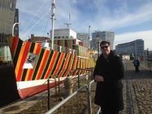 Em Liverpool a visitar o Dazzle Ship